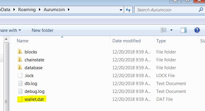 Aurumcoin default contents